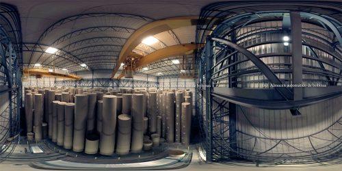 Smurfit Kappa: Fábrica y almacén de papel 360º